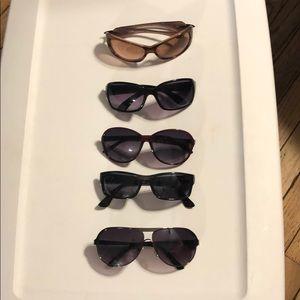 Accessories - (5) pairs Women's Sunglasses Like New